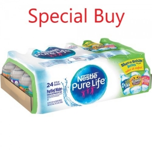 Pure Life Purified Bottled Water, 8oz Bottle, 24 / Carton, Price Includes CRV