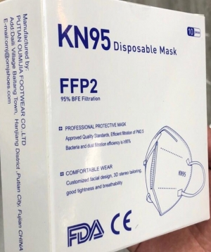 KN95 Quality Disposable Mask, 10/Box